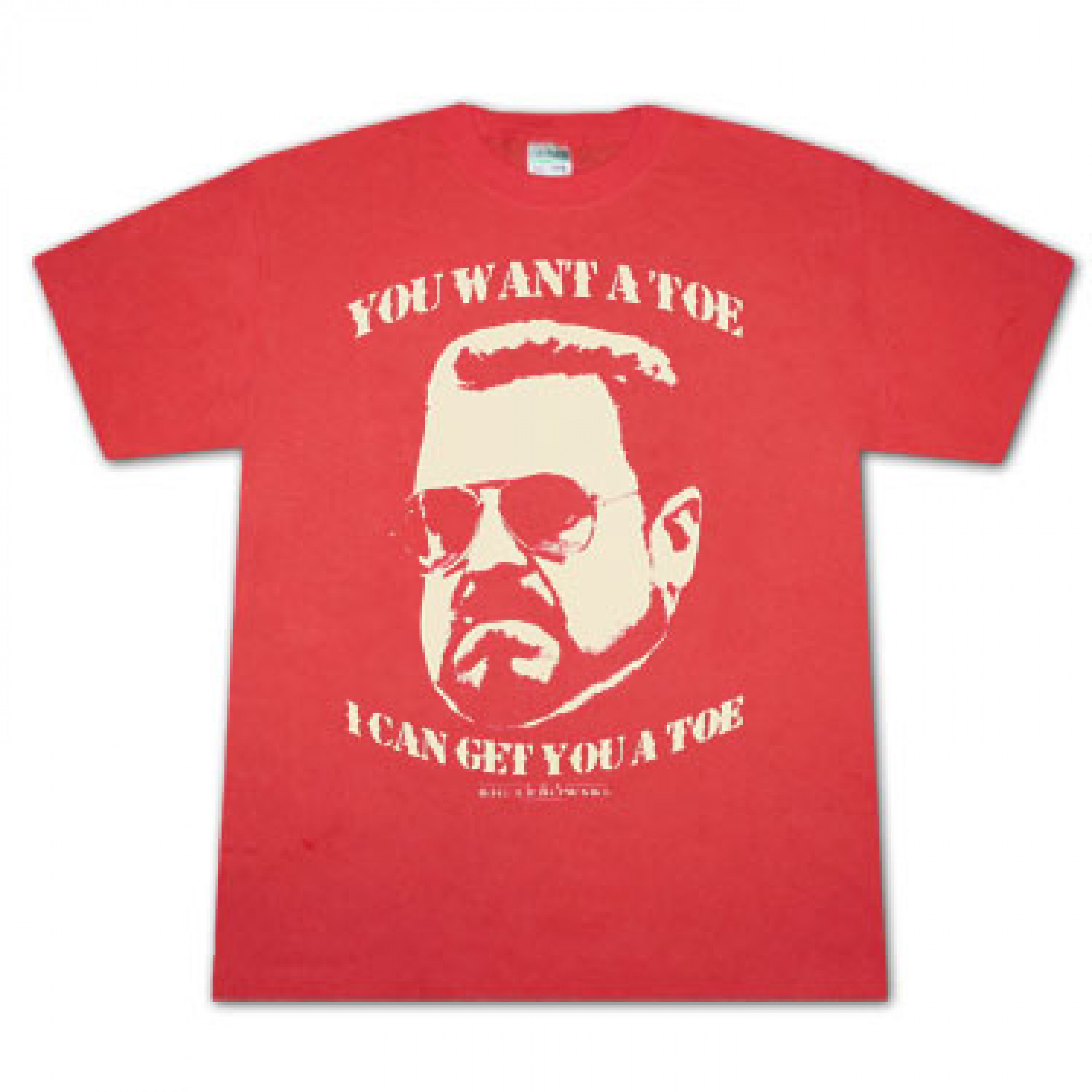 The Big Lebowski Want A Toe Red Graphic Tee Shirt